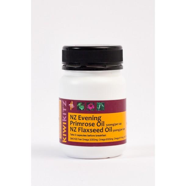 Evening Primrose /NZ Flaxseed Oil Heart/Brain/Skin